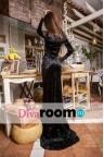 Черное бархатное платье в пол Snezhana