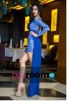 Синее платье со шлейфом Varekai blue