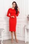 Трикотажное платье-миди красного цвета Abby