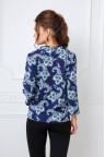 Синяя блузка с принтом и рукавом 3/4 Aldana