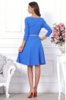 Голубое платье миди с юбкой солнце Beatris