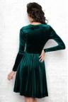 Коктейльное бархатное платье изумрудного цвета Izabella