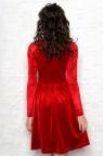 Красное велюровое платье миди Izabella