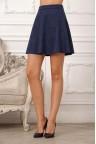 Замшевая юбка клеш синего цвета Jaine
