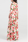 Вечернее длинное платье с цветочным принтом Jessie