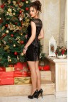 Коктейльное бархатное платье мини Khester