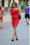Кружевное платье мини с открытыми плечами Lara