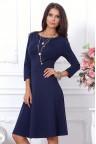 Повседневное темно-синее платье до колен Mariya