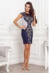 Коктейльное платье-футляр без рукавов Milana