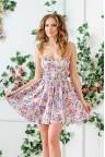 Короткое коктейльное платье с цветочным принтом Almira