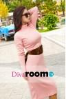 Трикотажное обтягивающее платье Hilary pink