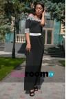 Длинное платье с открытыми плечами Emerald black
