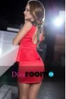 Красное платье с баской Aurora red