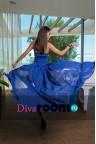 Синее платье со шлейфом Alisia blue