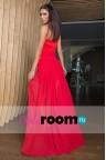 Красное платье со шлейфом Alisia red