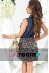 Короткое джинсовое платье на пуговицах Magnifi