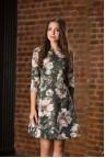 Короткое коктейльное платье с цветочным принтом Svetona
