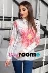 Белая классическая блузка с цветочным принтом Astra