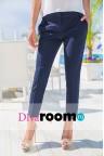 Темно-синие узкие брюки Garra
