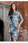 Коктейльное платье-футляр с цветочным принтом Pelar