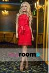 Короткое красное платье Border mini red