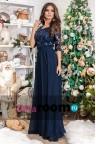 Темно-синее вечернее платье Claret