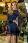Темно-синее платье с воротничком Leonarda dark blue