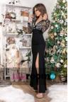 Вечернее платье с декольте Martina black