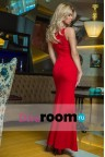 Красное платье макси Padma red