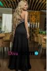 Длинное платье бандо Spicy black