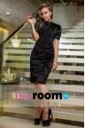 Бархатное платье футляр Symyn black
