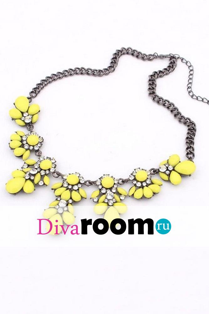 Желтое колье Floret yellow Divaroom