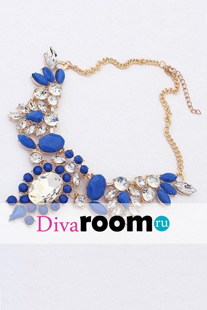 Изящное синее колье Rubin Divaroom