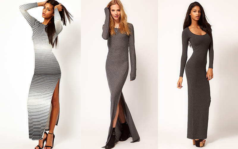 Платья длинные трикотажные на каждый день